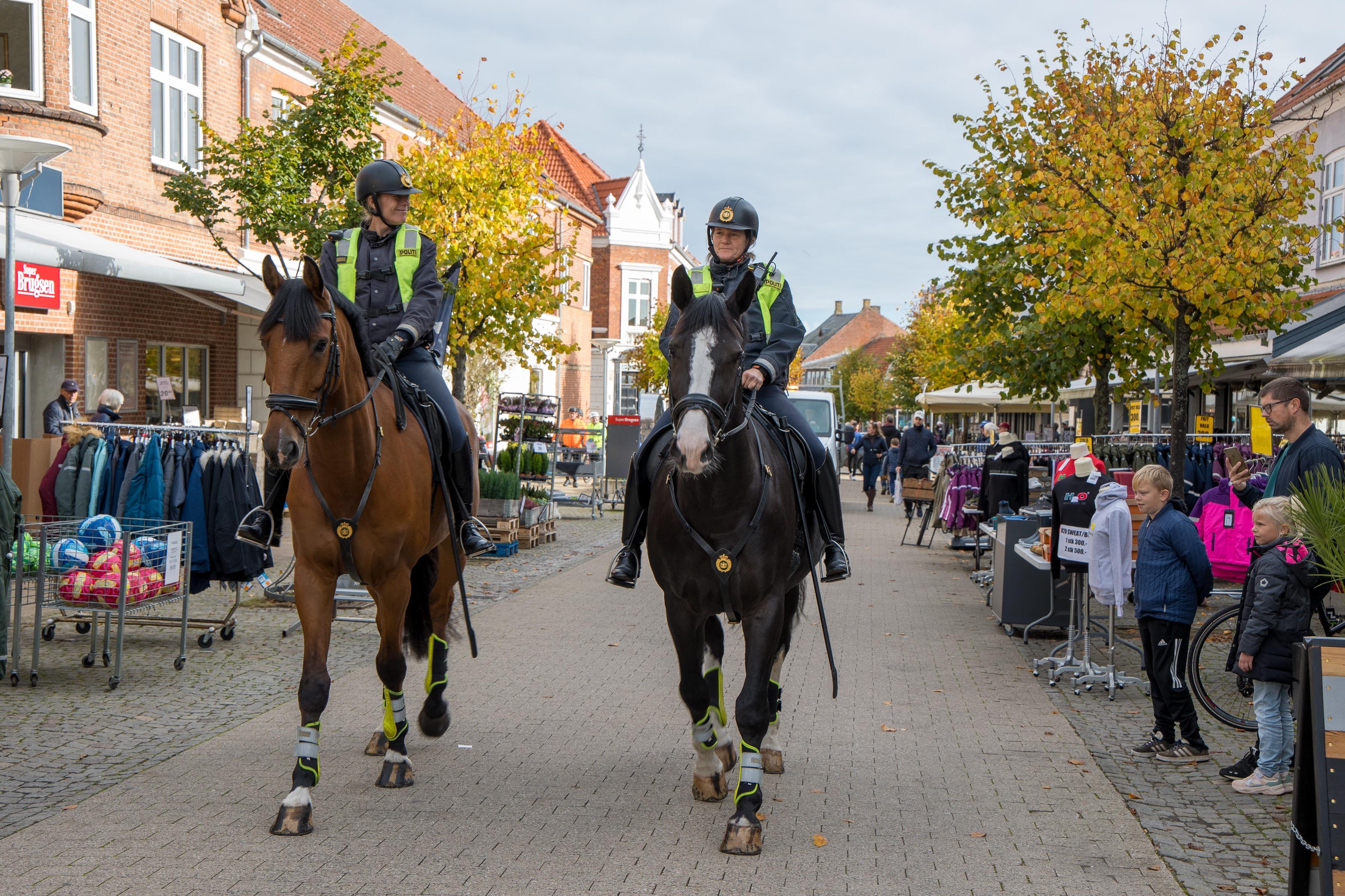 Politihestene Cantona og Drogba fra Rytterisektionen kommer torsdag formiddag på besøg i Nykøbing Sjælland for at sige goddag til de mange sommerg...