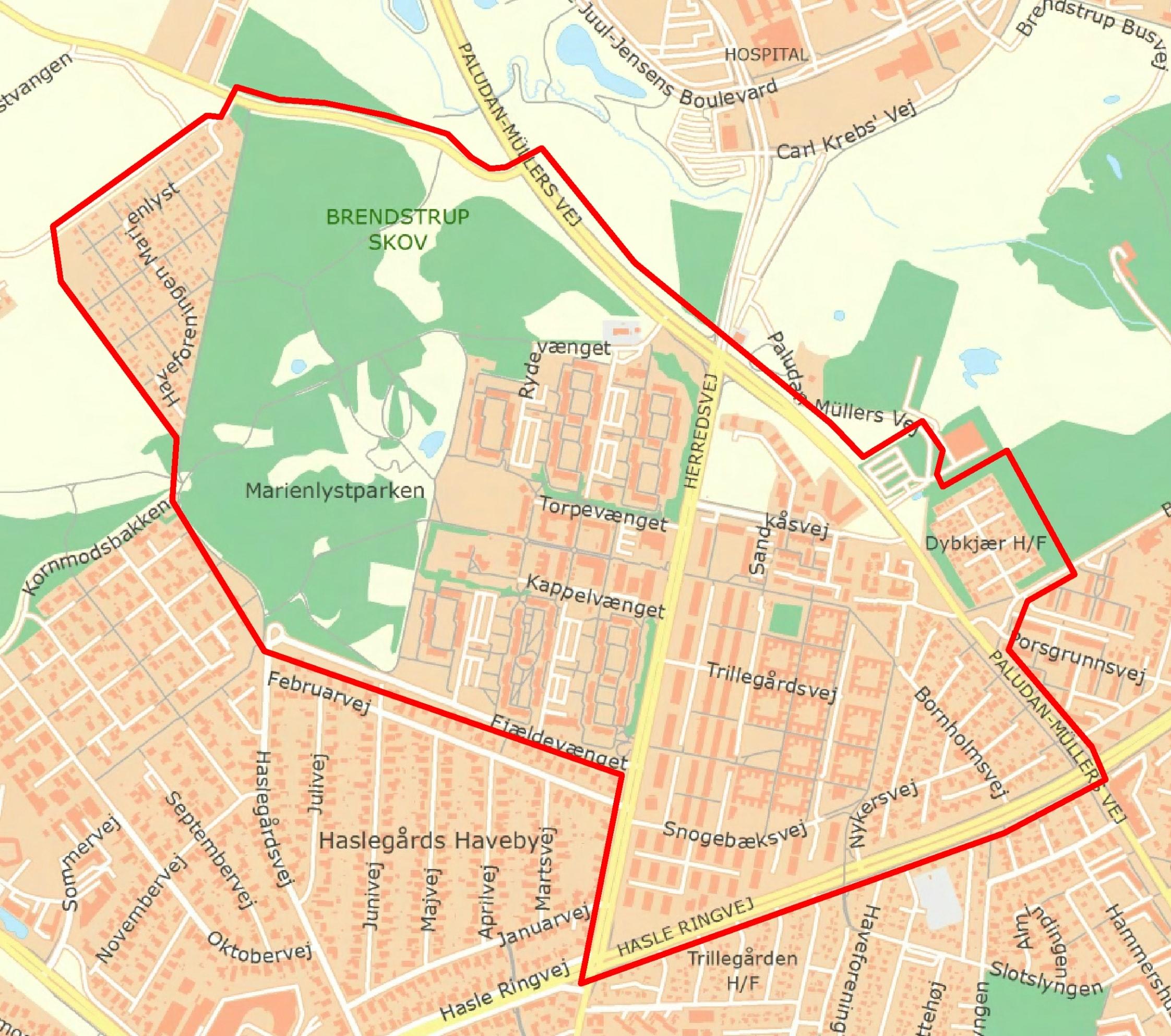 Visitationszoner i Trillegården/Herredsvang jan/feb 2021