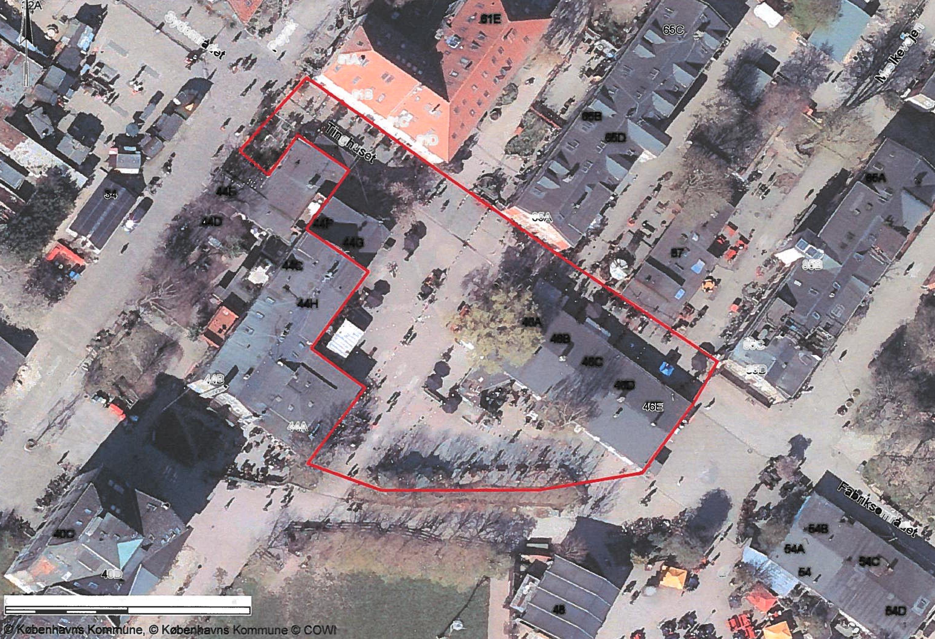 Kort over opholdsforbudsområdet i Pusher Street og Green Light District