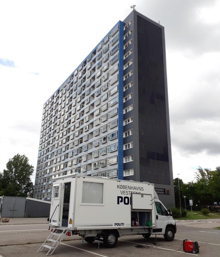 Mobil politistation på Brøndby Nord Vej