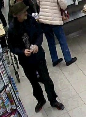 Overvågningsfoto - mistænkt D