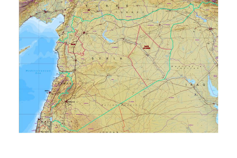 Kort over Syrien