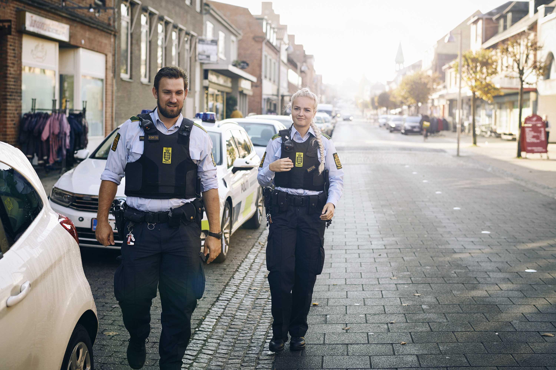 Gående patrulje i Sydsjællands og Lolland-Falsters Politi