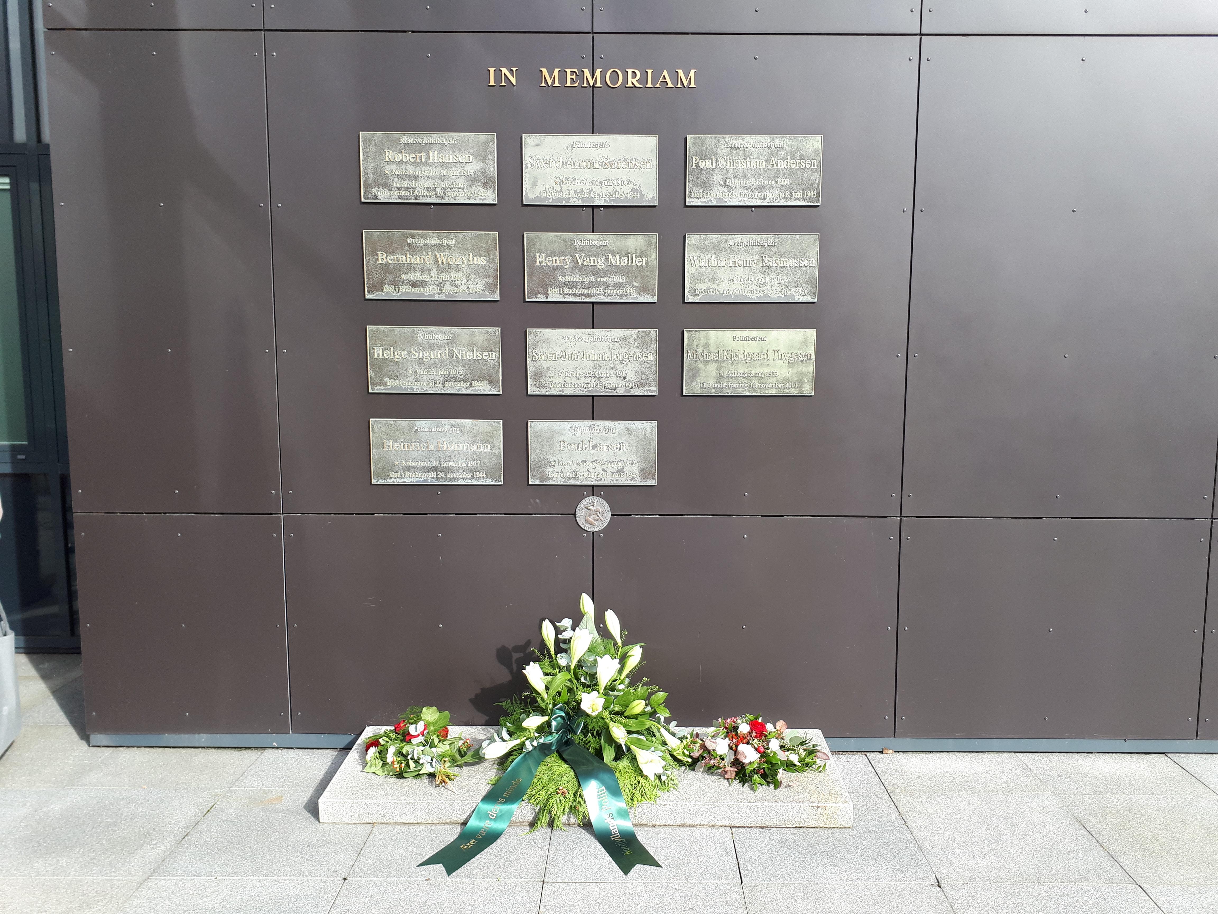 Mindemuren ved Aalborg Politigård 2019