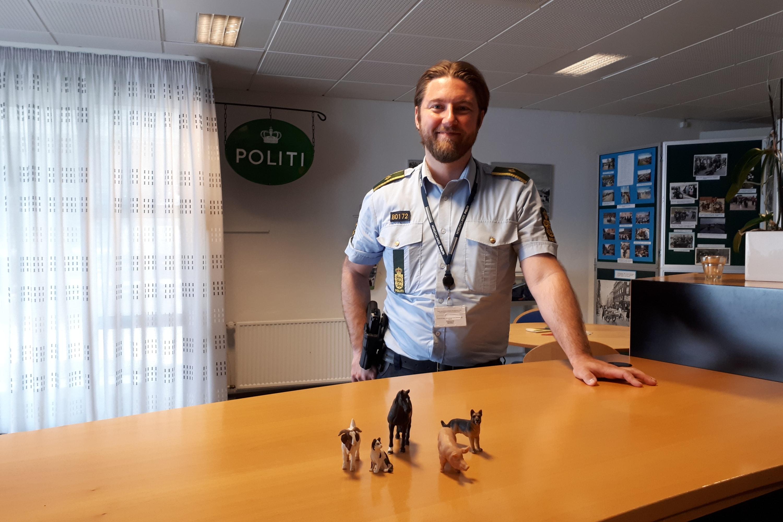 Fungerende politikommissær Henrik Taagaard, leder af dyrevelfærdsenheden i Nordjyllands Politi, på Kaas Politikontor.