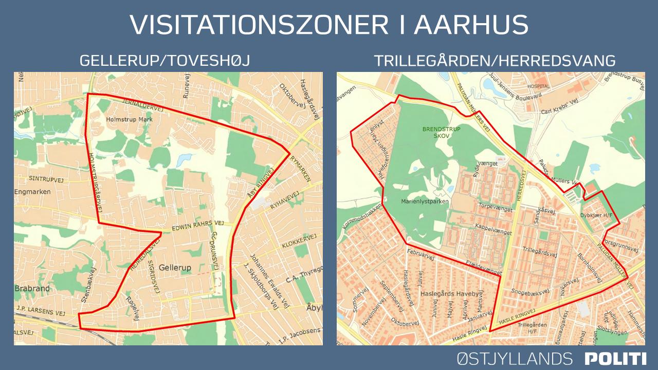 Visitationszoner i Aarhus jan/feb 2021