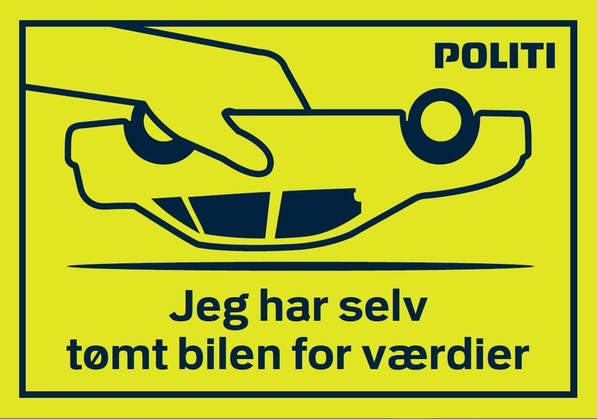 Tøm bilen klistermærke