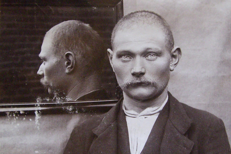 Forbryderfotografi fra Vejle politi, 1906. Landsarkivet for Nørrejylland
