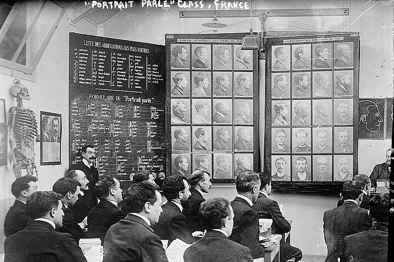 Bertillions system, undervisning i Paris, Library of Congress
