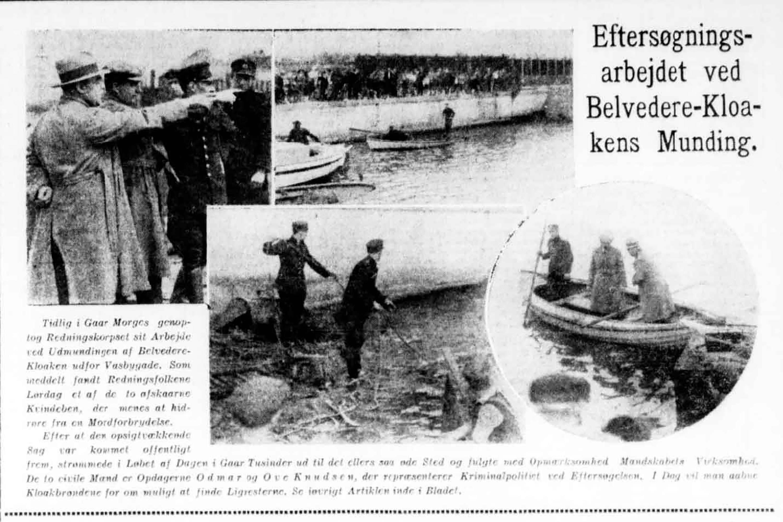Belvederesagen, politiets eftersøgningsarbejde, Nationaltidende